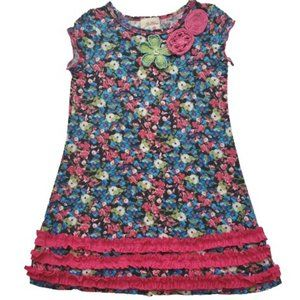 Vanilla Creme Kids Embroidered Ditsy Floral Dress